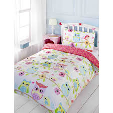 owl bedding for girls owl and friends single duvet cover and pillowcase set