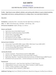 sample high resumes free resume templates college resume