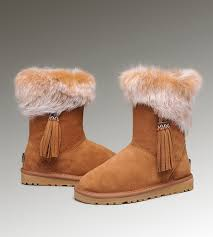 ugg sale high ugg bailey button size 2 ugg fox fur boots 2894 chestnut
