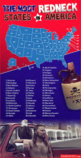 a map of the most redneck states in america