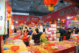 new year shopping new year shopping in chengdu editorial image image of