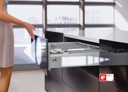 Kitchen Cabinet Interior Fittings Innovative Opening Function For Handleless Kitchens Hettich