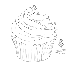 cupcake colouring pages for kids