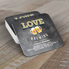 personalized digital coaster logo love is brewing coed wedding