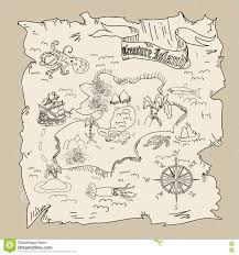 treasure island map kids coloring page stock illustration image
