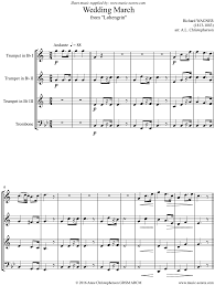wedding march wedding march from lohengrin 3 trumpets sheet by