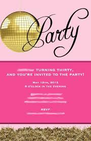 winning 30th birthday party invitation wording samples birthday