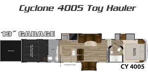 heartland 5th wheel floor plans cyclone toy hauler by heartland rv