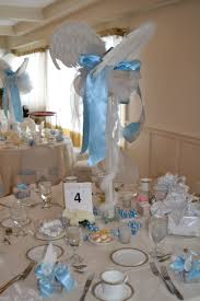 Centerpieces For Baby Shower by Angel Centerpieces Thank Heaven For Little Boys Baby Shower