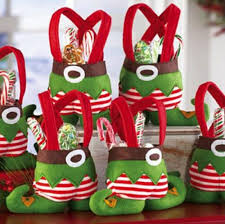Large Christmas Elf Decorations by Christmas Santa Candy Holder Sack Treat Bag Gift Santa Elf