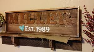 Family Wood Sign Home Decor Rustic Wood Sign Family Name Sign Est Date Sign Farmhouse