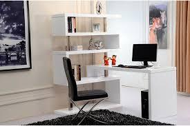 Stylish Home Office Desks White Book White Shelf Home Office Desk Computer Desk In For