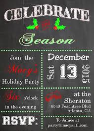 holiday christmas open house party invitations 2017