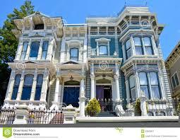 Duplex Style Victorian Duplex In San Francisco Editorial Photography Image