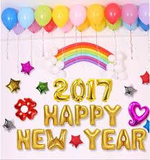 happy new year balloon 16pcs 2017 happy new year letter balloons set party festival