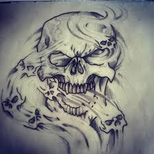 skull smoke dead