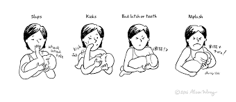 New Mom Meme - breastfeeding pain scale new mom comics