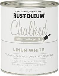 linen chalk paint kitchen cabinets rust oleum 285140 ultra matte interior chalked paint 30 oz 30oz can linen white