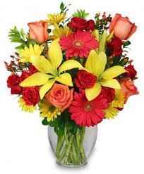 auburn florist bring on the happy vase of flowers in auburn ma auburn florist