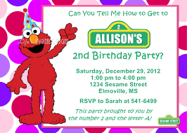 5 images free printable elmo birthday invitation template