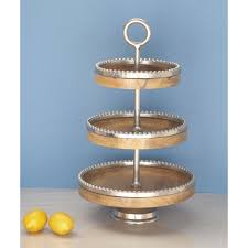 14 cake stand 14 in x 24 in 3 tier mango wood tray stand 68975 the