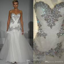 discount cheap bling bling beaded crystal tulle wedding dress