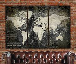 Pin World Map by Industrial Push Pin Or Canvas World Map World Map Canvas