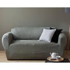 housse de canapé 3 suisses housse de canapé bi extensibles fauteuil et canapé à accoudoirs