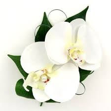 white orchid corsage artificial silk wedding flowers white orchid corsage high
