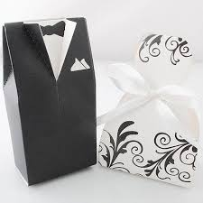 candy boxes wholesale floral pattern groom tuxedo dress wedding favors candy