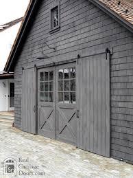 Garages That Look Like Barns Sliding Barn Door Shutters Garage Doors By Real Carriage