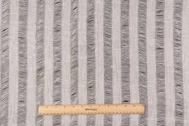 Striped Drapery Fabric Yards Robert Allen Sheer Stripe Drapery Fabric In Ecru
