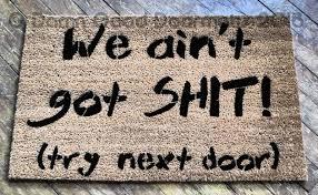 welcome beware of husband wife is cool rude funny doormat damn