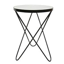Black Side Table Marble Side Table Black White Interior Secrets