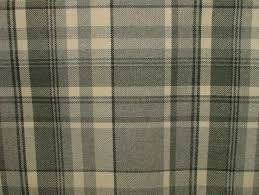 elgin dove grey wool effect washable thick tartan curtain fabric