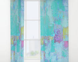 Torquoise Curtains Turquoise Curtains Etsy