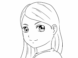 anime kid face sakura haruno from naruto anime coloring pages for