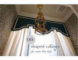 Diy Bathroom Curtains Design Dump Diy Tub Valance First Look At My Girls Finished