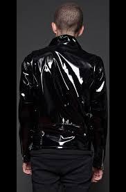 motorcycle clothing gothic moto vinyl pvc motorcycle jacket lip service punk emo biker