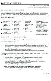 resume summary statement exles finance resumes equity research analyst resume sle