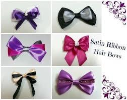 ribbon hair bow diy hair bows 3 ribbons how to make a ribbon hair bow jewelry