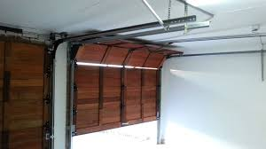 wooden sectional garage door automated youtube