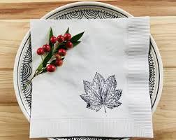 thanksgiving napkins etsy