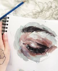 makeup artist sketchbook 9c937cc1380bec36666fa68b097bd8a1 jpg 600 733 pixels watercolor