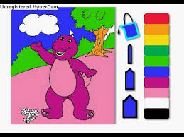 coloring barney on pbs kids youtube