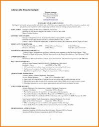 The Standard Resume Format For by Liberal Arts Resume Template Sidemcicek Com