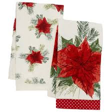 Kay Dee Designs Kitchen Towels Poinsettia Kitchen Towels Christmas Wikii