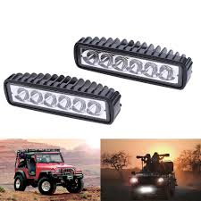 6 inch light bar 2x 6inch 30w led work driving light bar cree flood beam l offroad