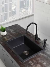 Kitchen Sink Black Granite by What To Consider When Buying A Black Granite Sink Lowes Video
