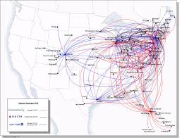 American Airline Route Map by 10 K